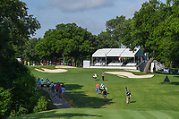 Corey Conners (CAN) and Ian Poulter (GBR) head down 8 during round 3 of the 2019 Charles Schwab Challenge, Colonial Country Club, Ft. Worth, Texas,  USA. 5/25/2019.<br /> Picture: Golffile | Ken Murray<br /> <br /> All photo usage must carry mandatory copyright credit (© Golffile | Ken Murray)