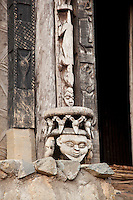 Staue details on the Achum Shrine at the Fons (local tribal leader) Palace in Bafut, Cameroon