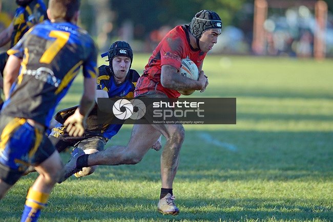 Rugby League, Wanderers Wolves v Stoke Cobras, Brightwater, New Zealand, 29th June 2013,  Photo: Barry Whitnall/shuttersport.co.nz