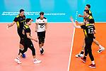 18.09.2019, Lotto Arena, Antwerpen<br />Volleyball, Europameisterschaft, Deutschland (GER) vs. Slowakei (SVK)<br /><br />Jubel Lukas Kampa (#11 GER), Christian Fromm (#1 GER), Julian Zenger (#10 GER), Denys Kaliberda (#6 GER), Marcus Bšhme / Boehme (#8 GER), Simon Hirsch (#13 GER)<br /><br />  Foto © nordphoto / Kurth