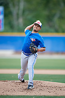 Toronto Blue Jays pitcher Francisco Rios during a Minor League Spring Training Intrasquad game on March 31, 2018 at Englebert Complex in Dunedin, Florida.  (Mike Janes/Four Seam Images)