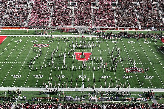 Trent Nelson  |  The Salt Lake Tribune.utah marching band, Utah vs. TCU college football, Saturday, November 6, 2010. TCU won 47-7.