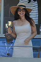 August 29, 2012: Rosie Perez is sighted watching the Isner Vs Malisse match at Arthur Ashe stadium at the USTA Billie Jean King National Tennis Center in New York City. ..© mpi04 / Mediapunchinc /NortePhoto.com<br />