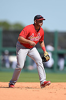 St. Louis Cardinals shortstop Jhonny Peralta (27) during a spring training game against the Detroit Tigers on March 3, 2014 at Joker Marchant Stadium in Lakeland, Florida.  Detroit defeated St. Louis 8-5.  (Mike Janes/Four Seam Images)