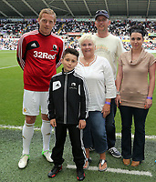Pictured: Garry Monk (L), Itay Shechter (R).<br /> <br /> Sunday 19 May 2013<br /> <br /> Re: Barclay's Premier League, Swansea City FC v Fulham at the Liberty Stadium, south Wales.
