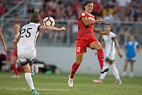 Boyds, MD. - Saturday, June 24 2017:  Meghan Klingenberg, Katherine Stengel during a regular season National Women's Soccer League (NWSL) match between the Washington Spirit and the Portland Thorns FC at Maureen Hendricks Field, Maryland SoccerPlex. The Washington Spirit defeated Portland Thorns FC 1-0.
