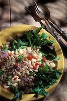Gastronomie générale / Cuisine générale :  Salade de lingots frais aux pignons et basilic