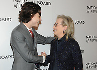 JANUARY 09: Timothe'e Chalamet and Meryl Streep attends the 2018 National Board Of Review Awards Gala at Cipriani 42nd Street on January 9, 2018 in New York City.  <br /> CAP/MPI/JP<br /> &copy;JP/MPI/Capital Pictures