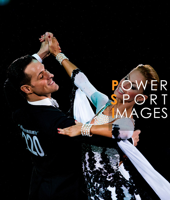 Simone Segatori and Annette Sudol of Germany during the WDSF GrandSlam Standard on the Day 2 of the WDSF GrandSlam Hong Kong 2014 on June 01, 2014 at the Queen Elizabeth Stadium Arena in Hong Kong, China. Photo by AItor Alcalde / Power Sport Images