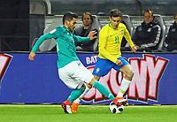 Ilkay Guendogan (Deutschland, Germany) gegen Philippe Coutinho (Brasilien Brasilia) - 27.03.2018: Deutschland vs. Brasilien, Olympiastadion Berlin