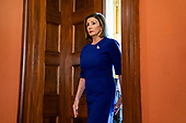Democratic Speaker of the House from California Nancy Pelosi prepares to announce the House will begin a formal impeachment inquiry into US President Donald J. Trump in the US Capitol in Washington, DC, USA, 24 September 2019. Speaker Pelosi faced increased pressure to begin an impeachment inquiry, with more and more democratic lawmakers saying they favor the move after whistleblower accusations against President Trump and his dealings with Ukraine.<br /> Credit: Jim LoScalzo / Pool via CNP