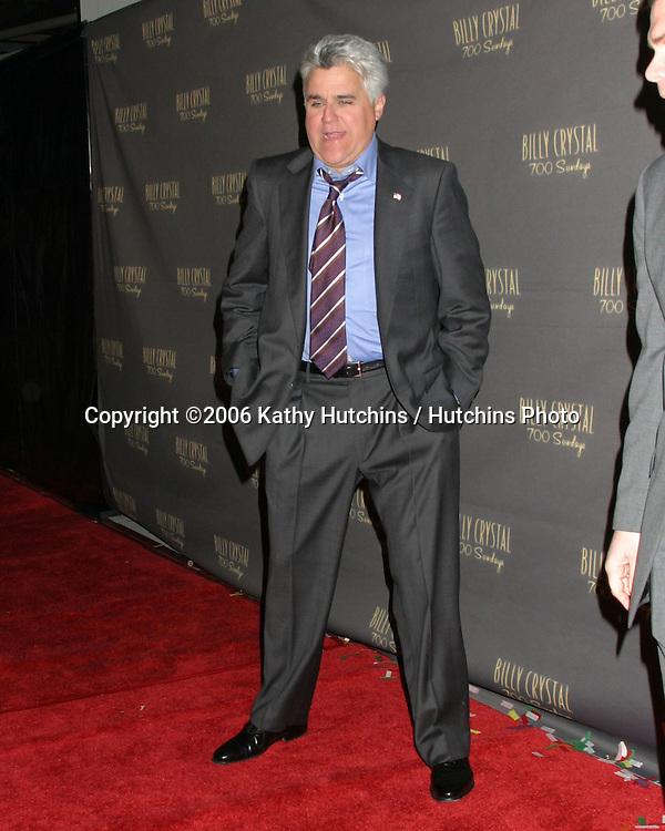 Jay Leno.Wilshire Theater.700 Sundays LA Play Opening.Los Angeles, CA.January 12, 2006.©2006 Kathy Hutchins / Hutchins Photo....