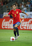 Spain's Jose Gaya in action during the UEFA Under 21 Final at the Stadion Cracovia in Krakow. Picture date 30th June 2017. Picture credit should read: David Klein/Sportimage