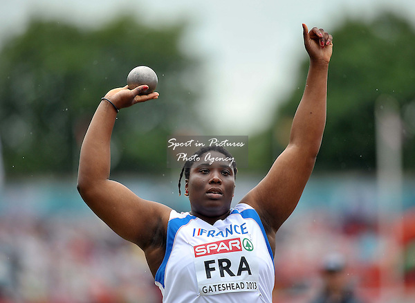 Jessica Cerival (FRA). Womens shot put. Day 2. European Team Athletics Championships. Gateshead. Tyne and Wear. UK. 23/06/2013. <br />  MANDATORY Credit Garry Bowden/SIPPA - NO UNAUTHORISED USE - 07837 394578