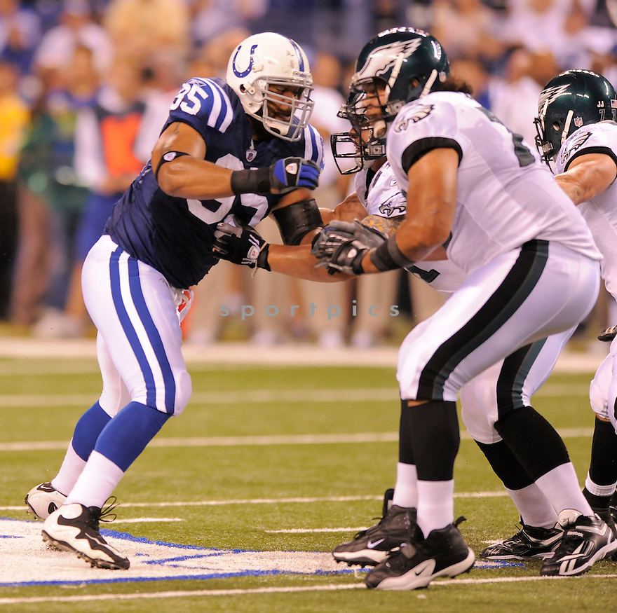 FILI MOALA,of the Indianapolis Colts  in action  during the Colts game against the Philadelphia Eagels  on August 20, 2009 in  Indianapolis, IN  The Colts beat  the Eagles 23-15.