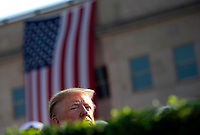 United States President Donald J. Trump attends a ceremony at the Pentagon during the 18th anniversary commemoration of the September 11 terrorist attacks, in Arlington, Virginia on Wednesday, September 11, 2019. <br /> Credit: Kevin Dietsch / Pool via CNP /MediaPunch