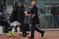 Luciano Spalletti of Internazionale sent off from referee Gianluca Rocchi during the Serie A 2018/2019 football match between AS Roma and FC Internazionale at stadio Olimpico, Roma, December, 2, 2018 <br />  Foto Andrea Staccioli / Insidefoto