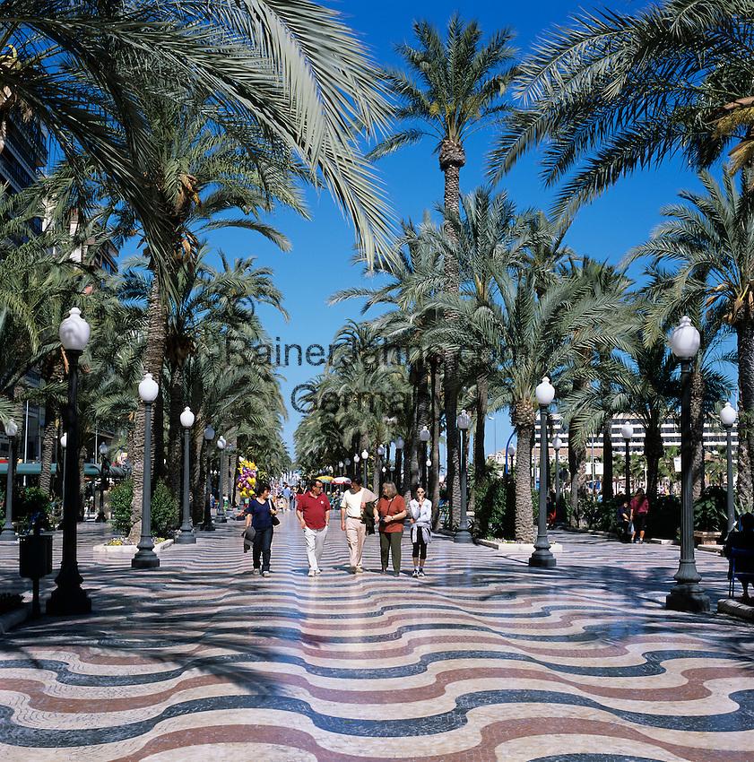 Spain, Costa Blanca, Alicante: The Paseo de la Explanada | Spanien, Costa Blanca, Alicante: Paseo de la Explanada