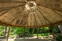 NWA Democrat-Gazette/BEN GOFF @NWABENGOFF<br /> A gazebo provides shade Wednesday, Sept. 4, 2019, at Town Branch Park in downtown Bentonville. Bentonville Parks and Recreation plans to hold a public input meeting for the downtown parks master plan 6:00 p.m. Monday, Sept. 16 at the Bentonville Public Library.