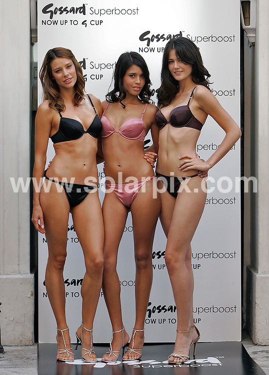 **ALL ROUND PICTURES FROM SOLARPIX.COM**.**NO UK NEWSPAPER PUBLICATION **UK MAGAZINE PUBLICATION ONLY** AND NO PUBLICATION IN FRANCE, SCANDINAVIA, AUSTRALIA AND GERMANY** .A trio of Gossard models launched the lingerie company's new 'Superboost Bra' in central London this morning 04_07_2007.JOB REF:     4216    SFE       DATE: 04_07_2007.**MUST CREDIT SOLARPIX.COM OR DOUBLE FEE WILL BE CHARGED* *UNDER NO CIRCUMSTANCES IS THIS IMAGE TO BE REPRODUCED FOR ANY ONLINE EDITION WITHOUT PRIOR PERMISSION*