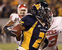 02 December 2006: West Virginia wide receiver Darrell Jalloh..The West Virginia Mountaineers defeated the Rutgers Scarlet Knights 41-39 in triple overtime on December 02, 2006 at Mountaineer Field, Morgantown, West Virginia. .