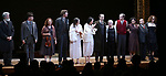 Tom Nelis, Matt Darriau, Lisa Gutkin, Aaron Halva, Adina Verson, Katrina Lenk, Richard Topal, Paula Vogel, Max Gordon Moore, Mimi Lieber, Steven Rattazzi and Rebecca Taichman during the Broadway Opening Night Performance Curtain Call Bows for  'Indecent' at The Cort Theatre on April 18, 2017 in New York City.