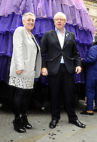 London - Ruth Mackenzie and Mayor Boris Johnson attend Piccadilly Circus Circus event at Piccadilly Circus, London -  September 2nd 2012..Photo by Bob Kent