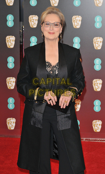 Meryl Streep at the EE British Academy Film Awards (BAFTAs) 2017, Royal Albert Hall, Kensington Gore, London, England, UK, on Sunday 12 February 2017.<br /> CAP/CAN<br /> &copy;CAN/Capital Pictures