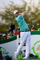 Brandon Grace (RSA) on the 9th tee during the 3rd round of the Waste Management Phoenix Open, TPC Scottsdale, Scottsdale, Arisona, USA. 02/02/2019.<br /> Picture Fran Caffrey / Golffile.ie<br /> <br /> All photo usage must carry mandatory copyright credit (© Golffile | Fran Caffrey)
