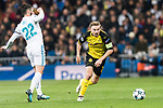 Borussia Dortmund Defender Marcel Schmelzer (R) in action against Isco Alarcon of Real Madrid (L) during the Europe Champions League 2017-18 match between Real Madrid and Borussia Dortmund at Santiago Bernabeu Stadium on 06 December 2017 in Madrid Spain. Photo by Diego Gonzalez / Power Sport Images