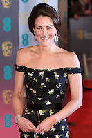 Kate, Duchess of Cambridge<br /> at the 2017 BAFTA Film Awards held at The Royal Albert Hall, London.<br /> <br /> <br /> &copy;Ash Knotek  D3225  12/02/2017