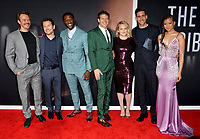 """LOS ANGELES, CA: 24, 2020: Michael Dorman, Leigh Whannell, Aldis Hodge, Jason Blum, Elisabeth Moss, Oliver Jackson-Cohen & Storm Reid, at the premiere of """"The Invisible Man"""" at the TCL Chinese Theatre.<br /> Picture: Paul Smith/Featureflash"""