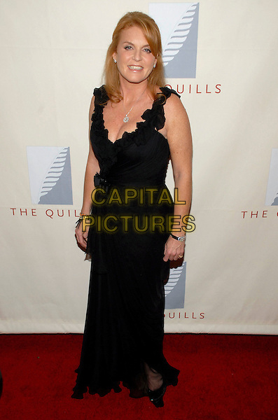 SARAH FERGUSON, DUCHESS OF YORK.The third annual Quill Awards held at Fredrick P. Rose Hall, New York, New York, USA, 22 October 2007..Fergie Royal family full length black dress .CAP/ADM/BL.©Bill Lyons/AdMedia/Capital Pictures. *** Local Caption ***