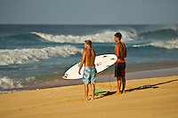 North Shore/Oahu/Hawaii (Thursday, December 15, 2011) Dusty Payne (HAW) and Evan Valiere (HAW). – Free surfing sessions at Backdoor and Off The Wall on Oahu's North Shore. Photo: joliphotos.com