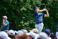 Jordan Spieth (USA) watches his tee shot on 14 during Sunday's final round of the PGA Championship at the Quail Hollow Club in Charlotte, North Carolina. 8/13/2017.<br /> Picture: Golffile | Ken Murray<br /> <br /> <br /> All photo usage must carry mandatory copyright credit (&copy; Golffile | Ken Murray)