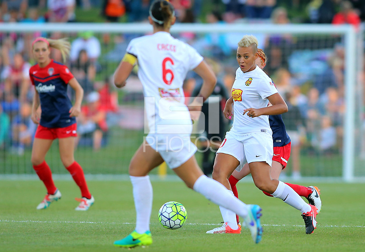Boyds, MD - Saturday Sept. 03, 2016: Lianne Sanderson during a regular season National Women's Soccer League (NWSL) match between the Washington Spirit and the Western New York Flash at Maureen Hendricks Field, Maryland SoccerPlex.