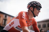 Adam Hansen (AUS/Lotto-Soudal) to the start<br /> <br /> 100th Giro d'Italia 2017<br /> Stage 13: Reggio Emilia &rsaquo; Tortona (167km)