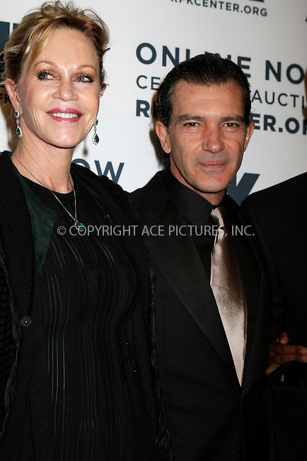 WWW.ACEPIXS.COM....December 3 2012, New York City....Melanie Griffith, Antonio Banderas arriving at the Robert F. Kennedy Center for Justice and Human Rights 2012 Ripple of Hope gala at The New York Marriott Marquis on December 3, 2012 in New York City....By Line: Nancy Rivera/ACE Pictures......ACE Pictures, Inc...tel: 646 769 0430..Email: info@acepixs.com..www.acepixs.com