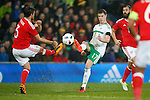 Patrick McNair of Northern Ireland during the international friendly match at the Cardiff City Stadium. Photo credit should read: Philip Oldham/Sportimage