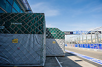MELBOURNE, 11 March - Containers of the Caterham F1 Team wait in pit lane ahead of the 2012 Formula One Australian Grand Prix at the Albert Park Circuit in Melbourne, Australia. (Photo Sydney Low / syd-low.com)