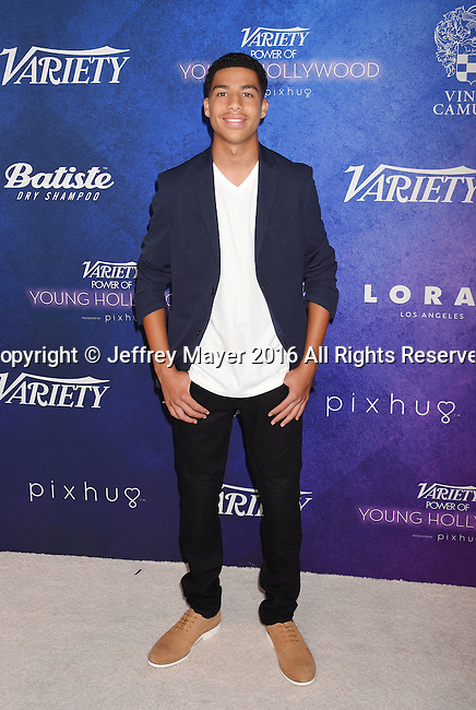 HOLLYWOOD, CA - AUGUST 16: Actor Marcus Scribner arrives at Variety's Power Of Young Hollywood at NeueHouse Hollywood on August 16, 2016 in Los Angeles, California.