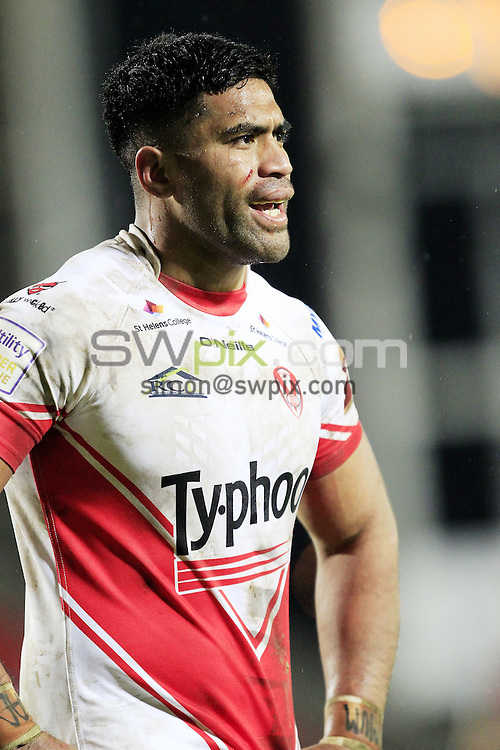 PICTURE BY CHRIS MANGNALL /SWPIX.COM...<br /> Rugby League - Super League - St Helens Saints v Castleford Tigers   - Langtree Park Stadium, , England  - 04/03/16<br /> St Helens  Lama Tasi