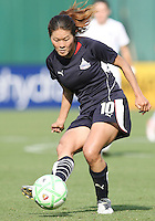 Homare Sawa #10 of Washington Freedom during a WPS match against Chicago Red Stars at RFK Stadium on June 13 2009, in Washington D.C.