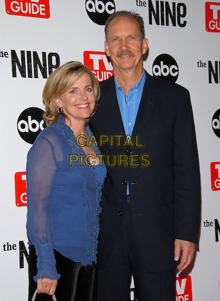 MARY O'NEILL & MICHAEL O'NEILL.The ABC, TV Guide and Warner Bros. Television Presentation of The Nine Screening held at L.A. Center Studios in Los Angeles, California, USA..September 18th, 2006.Ref: DVS.half length blue sheer top suit jacket.www.capitalpictures.com.sales@capitalpictures.com.©Debbie VanStory/Capital Pictures