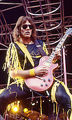 TWISTED SISTER - guitarist Jay Jay French - performing live at the Heavy Sound Festival in Poperinge Belgium - 10 Jun 1984.  Photo credit: Ray Palmer Archive/IconicPix