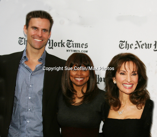 Cameron Mathison - Debbi Morgan - Susan Lucci - All My Children at 40 celebrate on January 10, 2010 at the New York Times Arts & Leisure Weekend at the TimesCenter Stage, New York City, New York. (Photo by Sue Coflin/Max Photos)