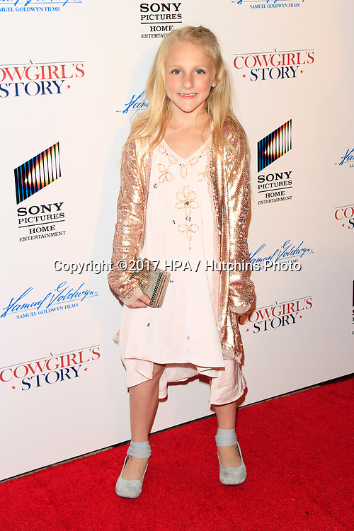 """LOS ANGELES - APR 13:  Clara Lukasiak at the """"A Cowgirl's Story"""" Premiere at the Pacific Theatres at The Grove on April 13, 2017 in Los Angeles, CA"""