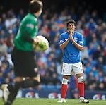 Fran Sandaza denied in front of goal again