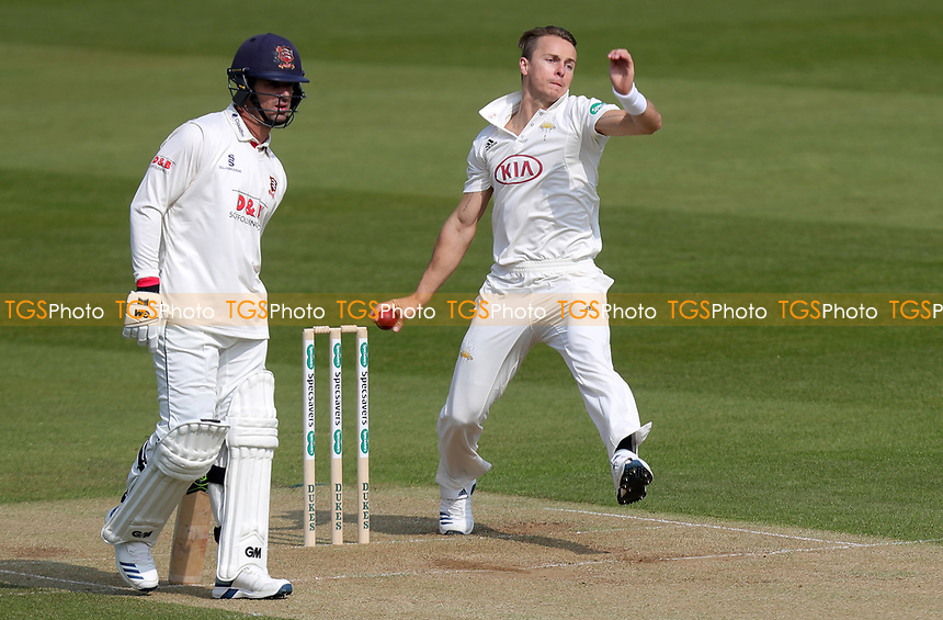 Tom Curran of Surrey in bowling action during Surrey CCC vs Essex CCC, Specsavers County Championship Division 1 Cricket at the Kia Oval on 13th April 2019