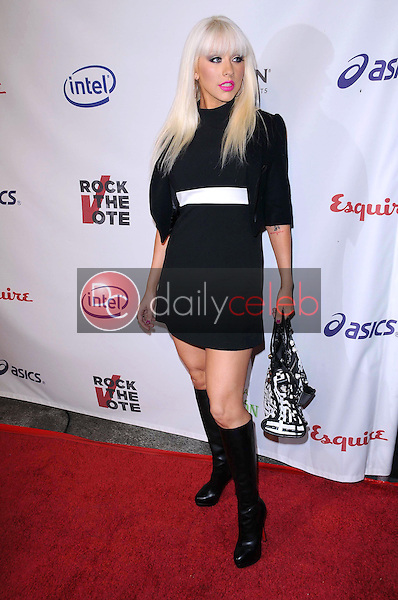 Christina Aguilera<br />at 'Rock The Vote'. Esquire House, Hollywood, CA. 09-25-08<br />Dave Edwards/DailyCeleb.com 818-249-4998